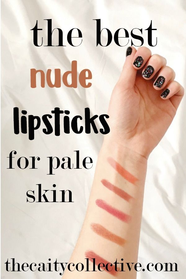 Nude lipstick is a huge trend right now. But having pale skin can make it a little tough to rock. So here are my top picks for the best nude lipsticks for pale skin.