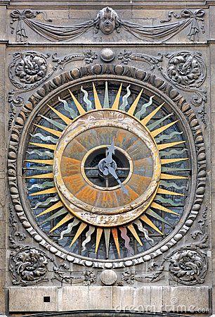 Paris: The clock of st Paul church