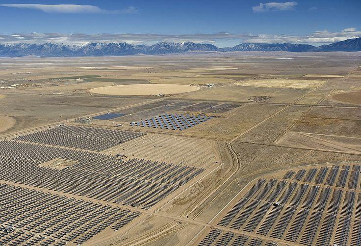 Solar Power Plant San Luis Valley Alamosa Colorado Re