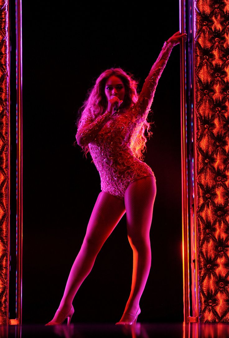 Beyoncé on stage at Mrs. Carter Show World Tour 2013 during the Essence Festival at the Superdome on Sunday, July 7, 2013