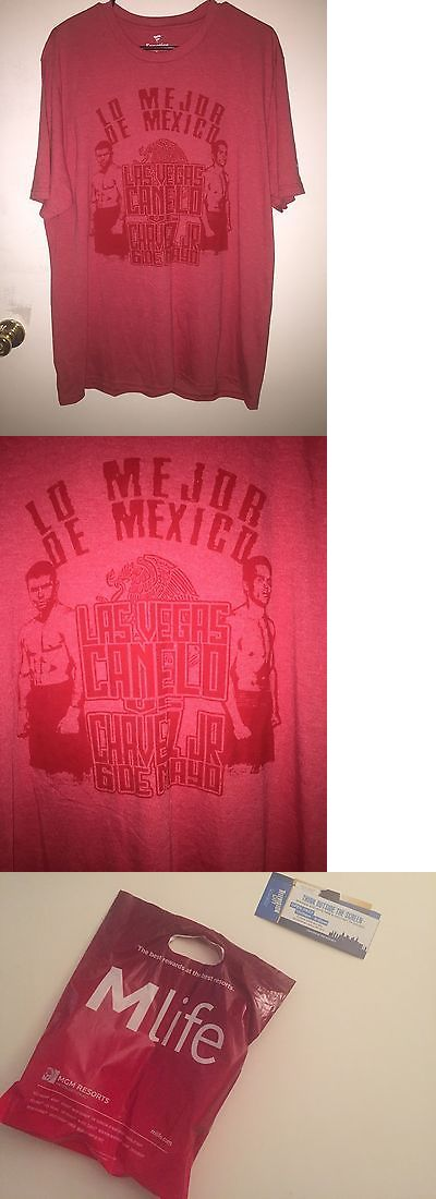 Boxing 1227: Canelo Vs Julio Cesar Chavez Jr Official Fight Tee Sz: Xl Red Very Rare! -> BUY IT NOW ONLY: $30 on eBay!