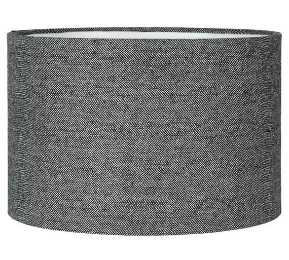 Buy Collection Larkhall Textured Shade - Black and Grey at Argos.co.uk, visit Argos.co.uk to shop online for Lamp shades, Lighting, Home and garden