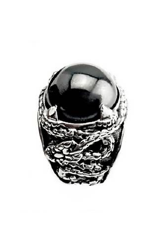 Men's Jewelry Carved Drakon Ring Titanium Steel - Cincin Pria - Batu Hitam lazada indonesia lazada.co.id | http://www.lazada.co.id/mens-jewelry/