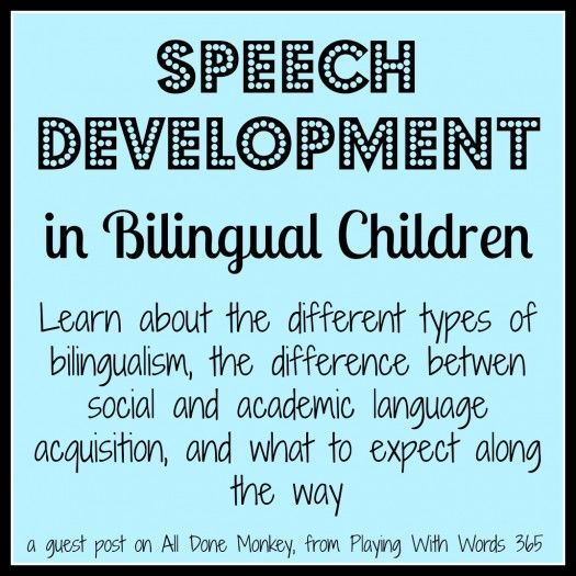 Playing with words 365: Speech Development in Bilingual Children. Pinned by SOS Inc. Resources. Follow all our boards at pinterest.com/sostherapy for therapy resources.
