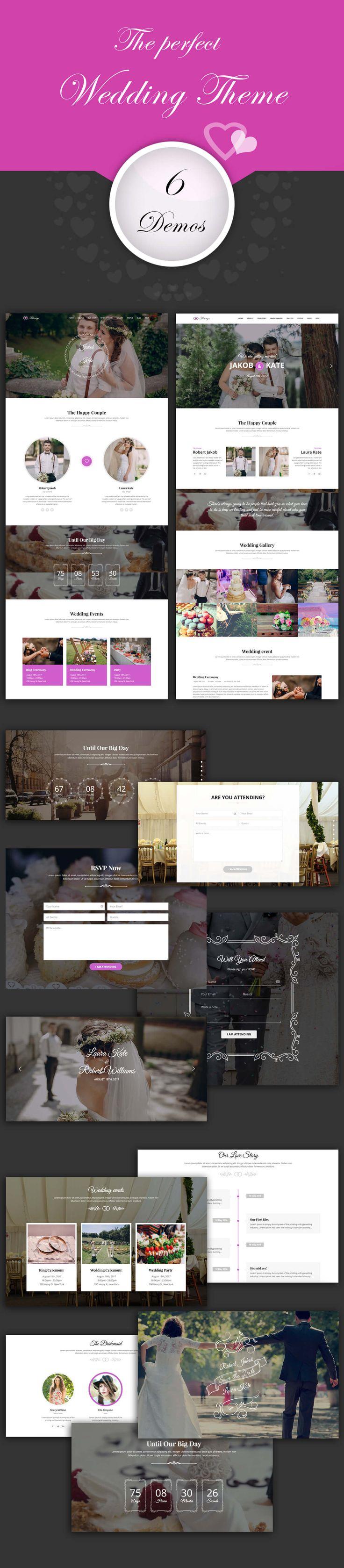 Always - Responsive WordPress Wedding Theme #wedding planner