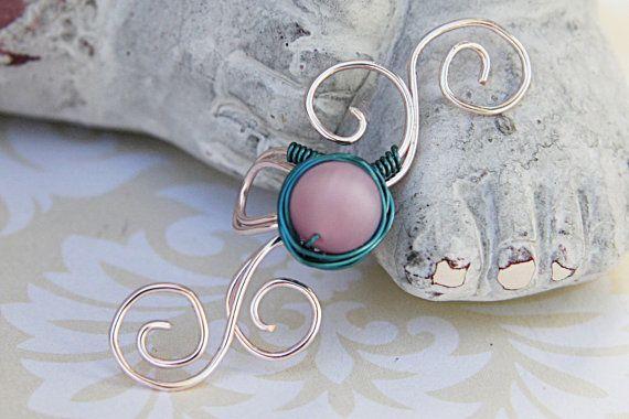 Ear Cuff, Simple Ear Cuff, Pink Ear Cuff, Swirls Ear Cuff, Adjustable Ear Cuff