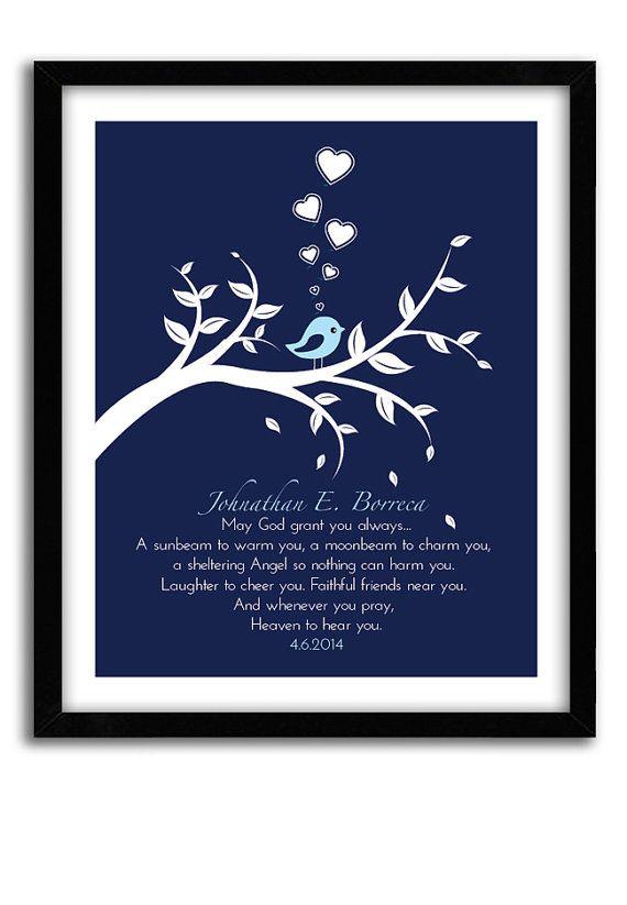 Personalized Baby Boy Christening Gift Prayer Quot May God