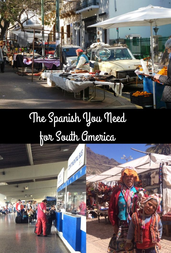 A little bit of Spanish goes a long way in South America. Get to grips with numbers. Learn how to ask and understand prices. Bargain at the market. Know how to ask time questions. Be able to understand basic information at the bus station. Enrich your trip with simple Spanish. #Spanish #SouthAmerica #travel #language