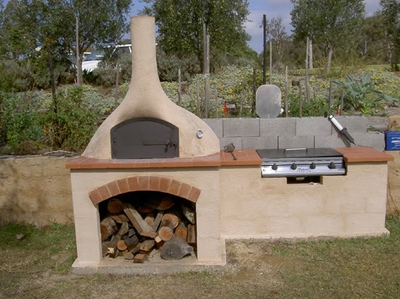 Pizza Oven And Bbq Terracotta Tile Overhang