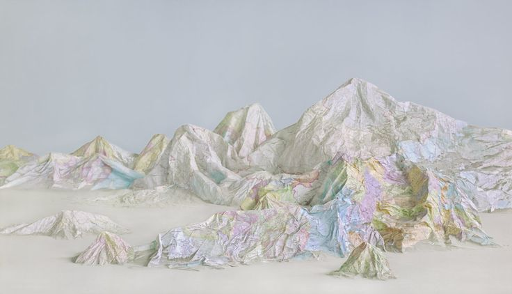 Get Lost In These Gorgeous 3D Maps Made From Recycled Books