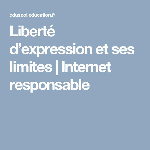 Liberté d'expression et ses limites|Internet responsable