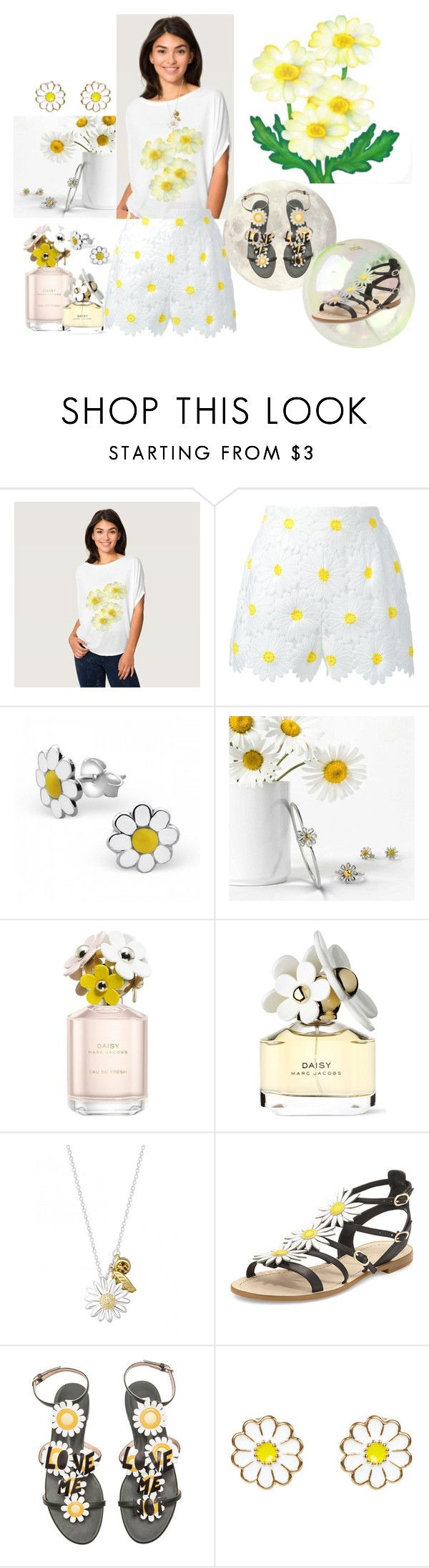 """Daisies"" by boo-poo-bee-doo ❤ liked on Polyvore featuring Dolce&Gabbana, Bling Jewelry, Marc Jacobs, Daisy Jewellery, Kate Spade, Valentino and Monsoon"