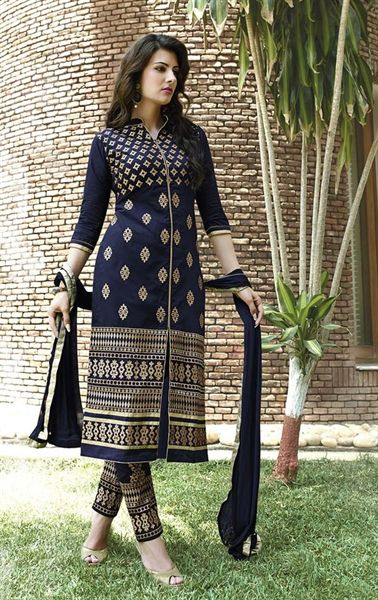 Picture of Captivating Navy Blue Ethnic Salwar Kameez