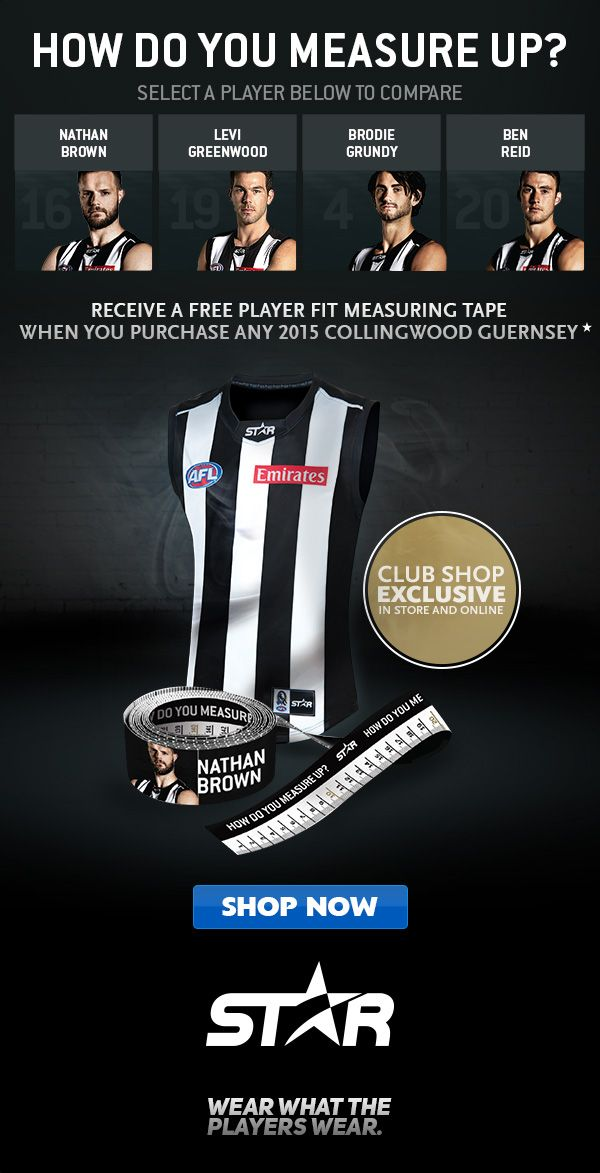 Collingwood Magpies AFL fan offer with mesuring tape- mums/dads will love this!