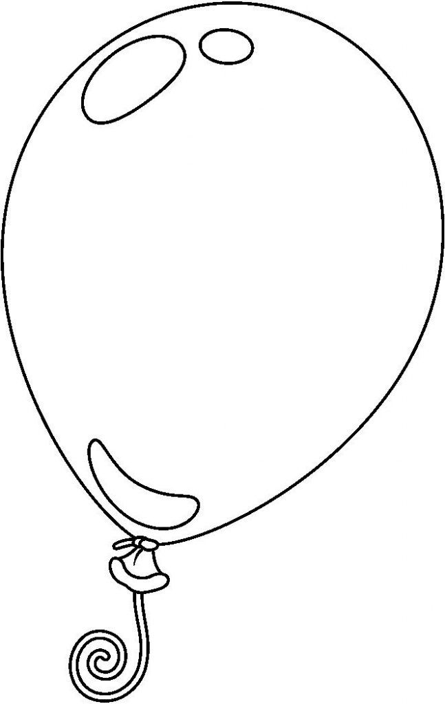 Pin By Arunrat Potiyok On Black And White Clipart Balloon Template Summer Crafts For Toddlers Cute Coloring Pages