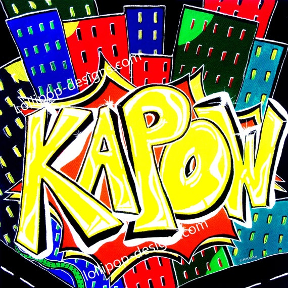 Kapow Pop Street Art Archival Quality Poster by LollipopDesignsAU, $45.00