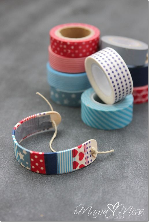 diy: Patriotic Washi Tape Wooden Bracelets - Mama Miss