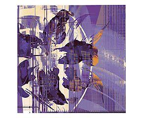 Tela artistica in cotone Orchidea selvaggia violet - 70x70x4 cm