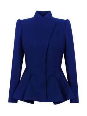 Words cannot describe my feelings for this blazer. Ted Baker Wrenn wool peplum jacket Blue - House of Fraser.