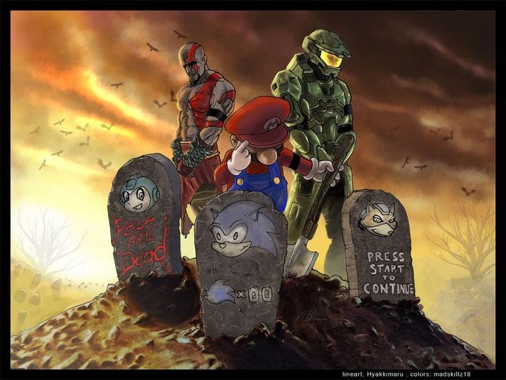 Game graveyard.: Gamer, Geek, Stuff, Gaming, Fallen, Video Games, Videogames, Old Games