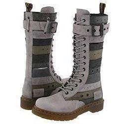 Dr. Martens Thema Belt Boot 14 Eye 1B99 Light Grey/Multi Colors
