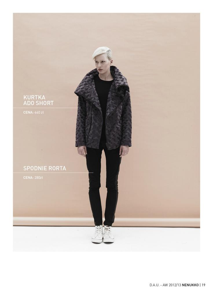 ADO SHORT jacket RORTA trousers D.A.U. collection   http://nenukko.com/shop/