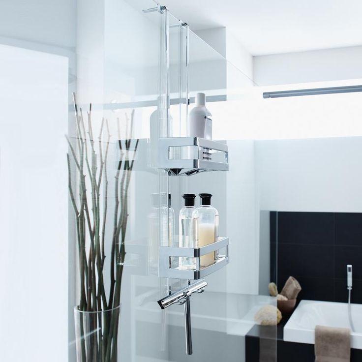 sam duschway XL Duschkorb, 2-fach mit Wischer