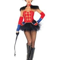 Show off your curves in this sassy 4 Pc Sexy Circus Ring Mistress Costume. Costume includes bustier, tutu skirt, epaulette neck piece and sleeves.  Sizes: Small, Medium, and Large Available  All Sales Are Final No Returns  Shipping Takes about 3-5 Mailing Days  Any Questions Feel Free to ...