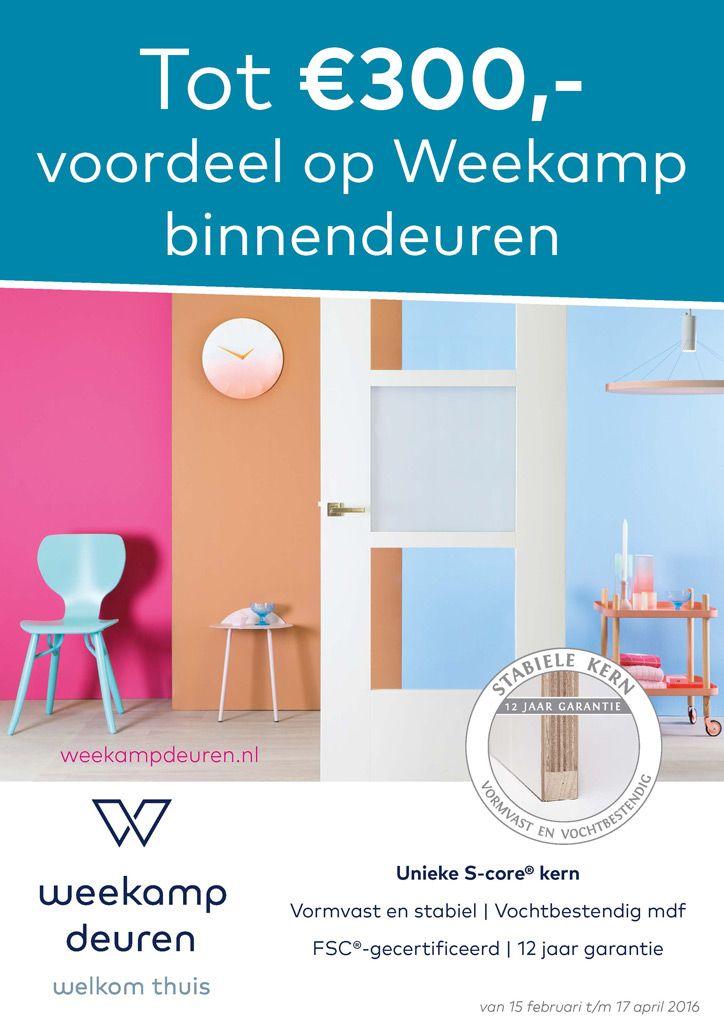 Actie Weekamp binnendeuren. Tot €300 voordeel op onze binnendeuren.