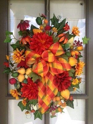 Floral / Fruit   Door Wreath / Swag Design Ideas