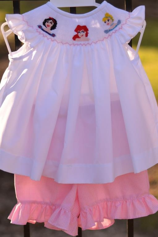 Jetterbug S Smocked Princess Shorts Set