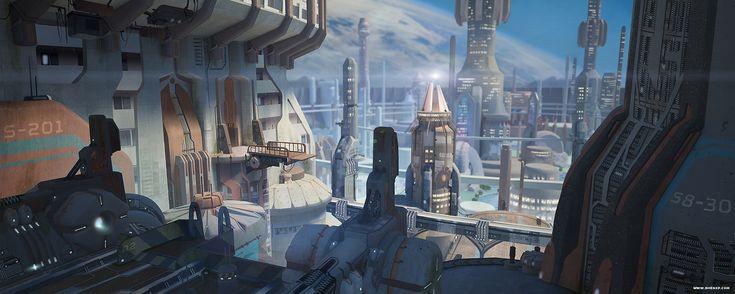 ArtStation - Dam City, lucy shen