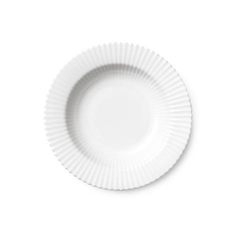 Dyb tallerken - 23 cm hvid