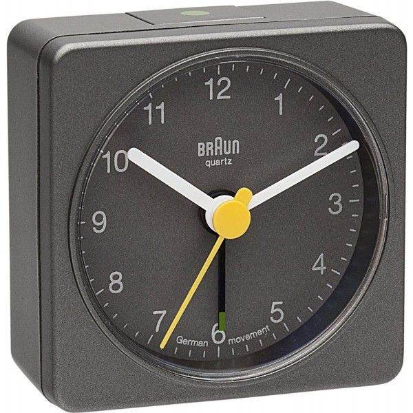 Braun BNC002 Grey Analogue Alarm Clock