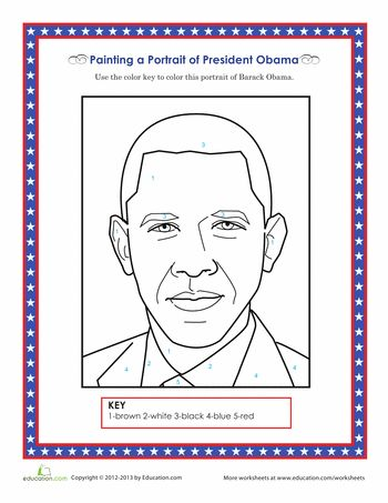 president obama coloring pages free - photo#22