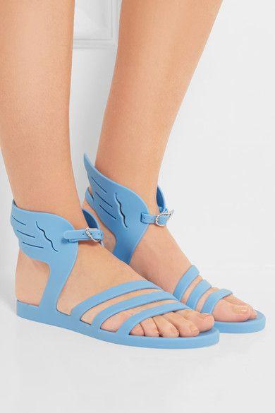 Ancient Greek Sandals - Ikaria Rubber Wing Sandals - Blue - IT