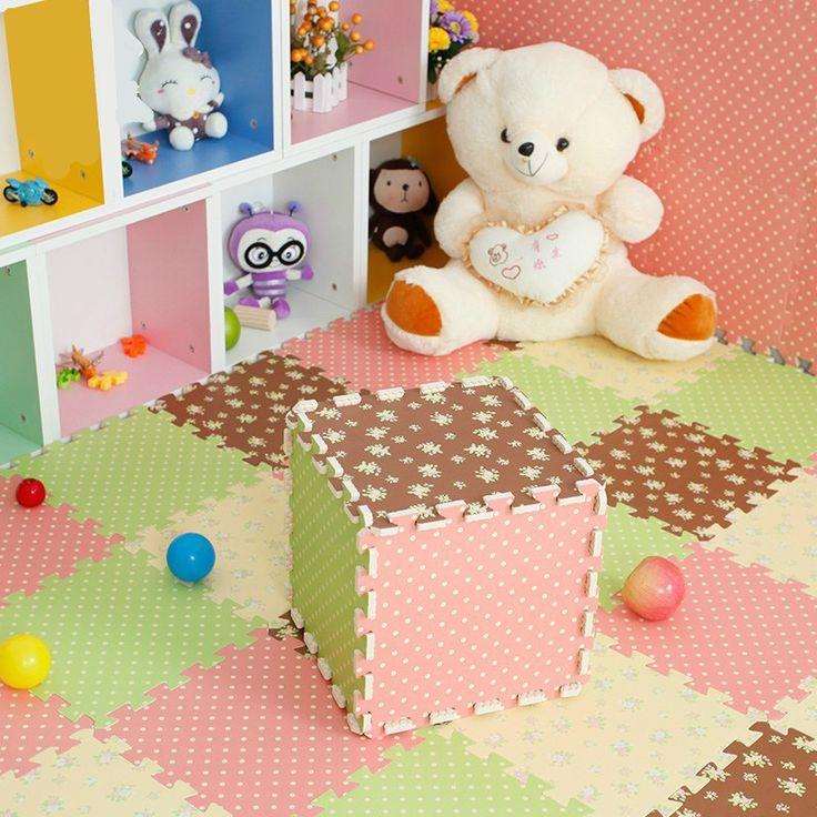 Promoção estilo pastoral esteira do jogo criança dos desenhos animados tapete puzzle de espuma bebê EVA tapetes de retalhos EDJW001 em Tapetes de jogo de Brinquedos Hobbies & no AliExpress.com | Alibaba Group