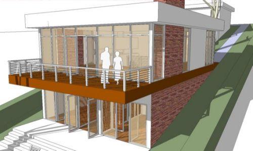 885e8ffd1ead17068bd6996077497fe6 modern house plans on hillside house and home design,Modern Hillside House Plans