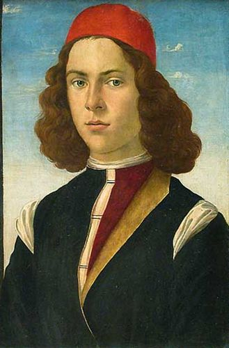 Portrait of a Young Man Domenico GHIRLANDAIO, attributed to. Louvre  #TuscanyAgriturismoGiratola