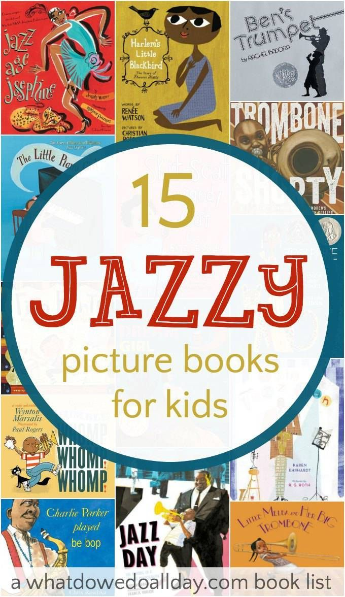 Picture books about jazz and jazz musicians for kids.