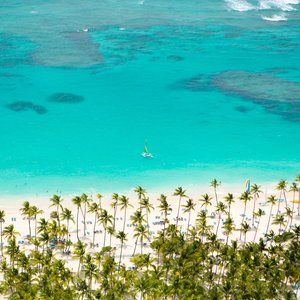 This all-inclusive resort makes up for the fact that it's not exactly beachfront (the sand and surf of Bavaro Beach is across the street) by delivering buckets full of family fun at a huge on-property waterpark, including seven waterslides, a wave pool, a