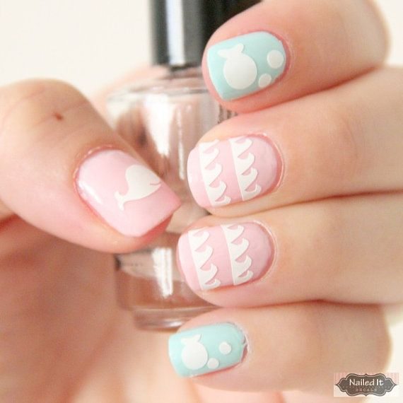 NAILED IT DECALS 1 Sheet of 45 Under the Sea by MadeByMunchiesMama, $4.99