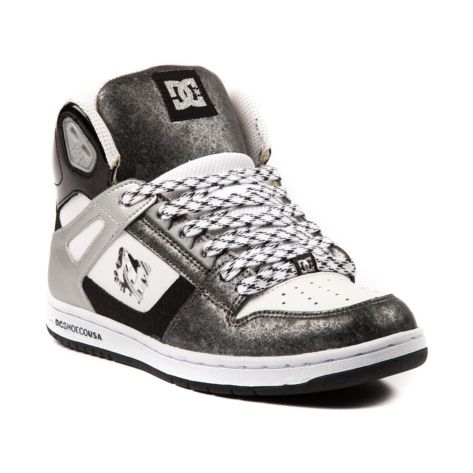 Shop for Womens DC Rebound Hi Skate Shoe in Black White Silver at Journeys  Shoes.