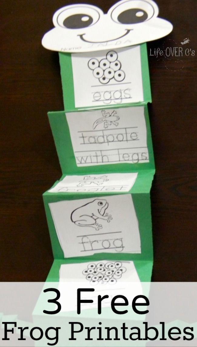 FREE Frog Printables Pack