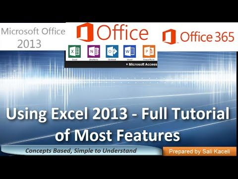 8 best ntc computer instructors images on pinterest microsoft excel 2013 tutorial a comprehensive guide to excel for anyone youtube fandeluxe Images