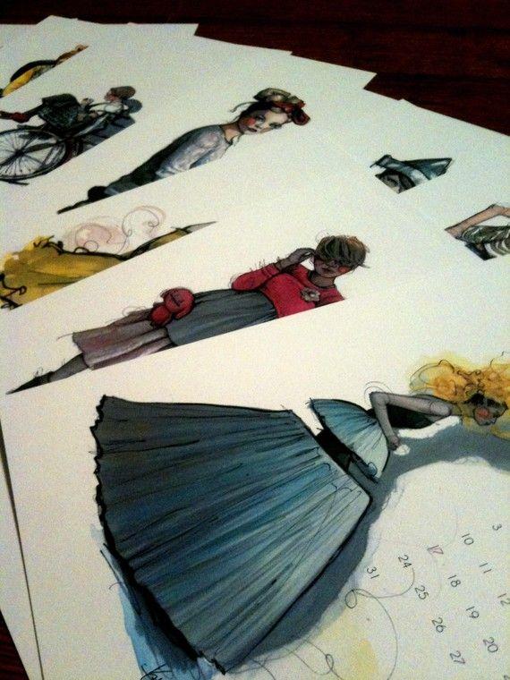 illustrated fashion calendar