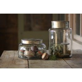 Large Glass Jar with Metal Lid