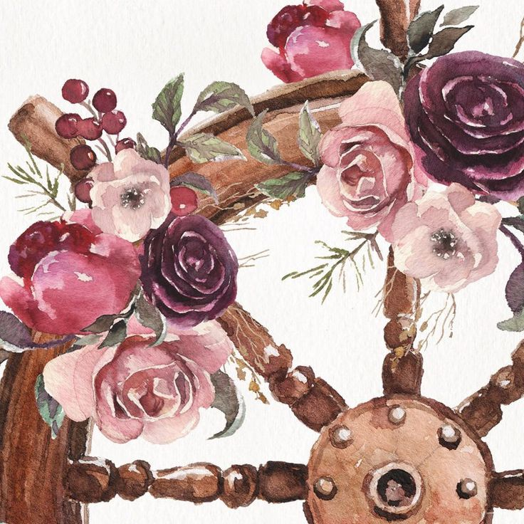 New clip art! Steering wheel & flowers.  Colorful boho & nautical arrangement for you! Perfect for DIY, wedding invitations, stationary, guest cards, postcards, wallpapers, logo, label, patterns, etc etc etc.  You decide! Enjoy!