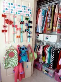 Little Girl Closet Organization. OMG I am so doing these with my girls room.