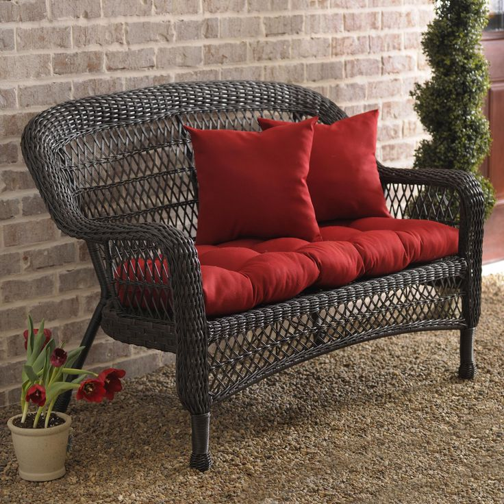 Savannah Brown Wicker Settee Settees Take A Break And